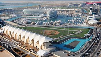 Yas Marina track ariel view Abu Dhabi